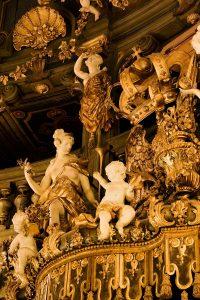 Detail der Fürstenloge, Markgräfliches Opernhaus, Bayreuth
