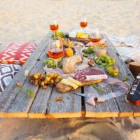 Picknick am Strand