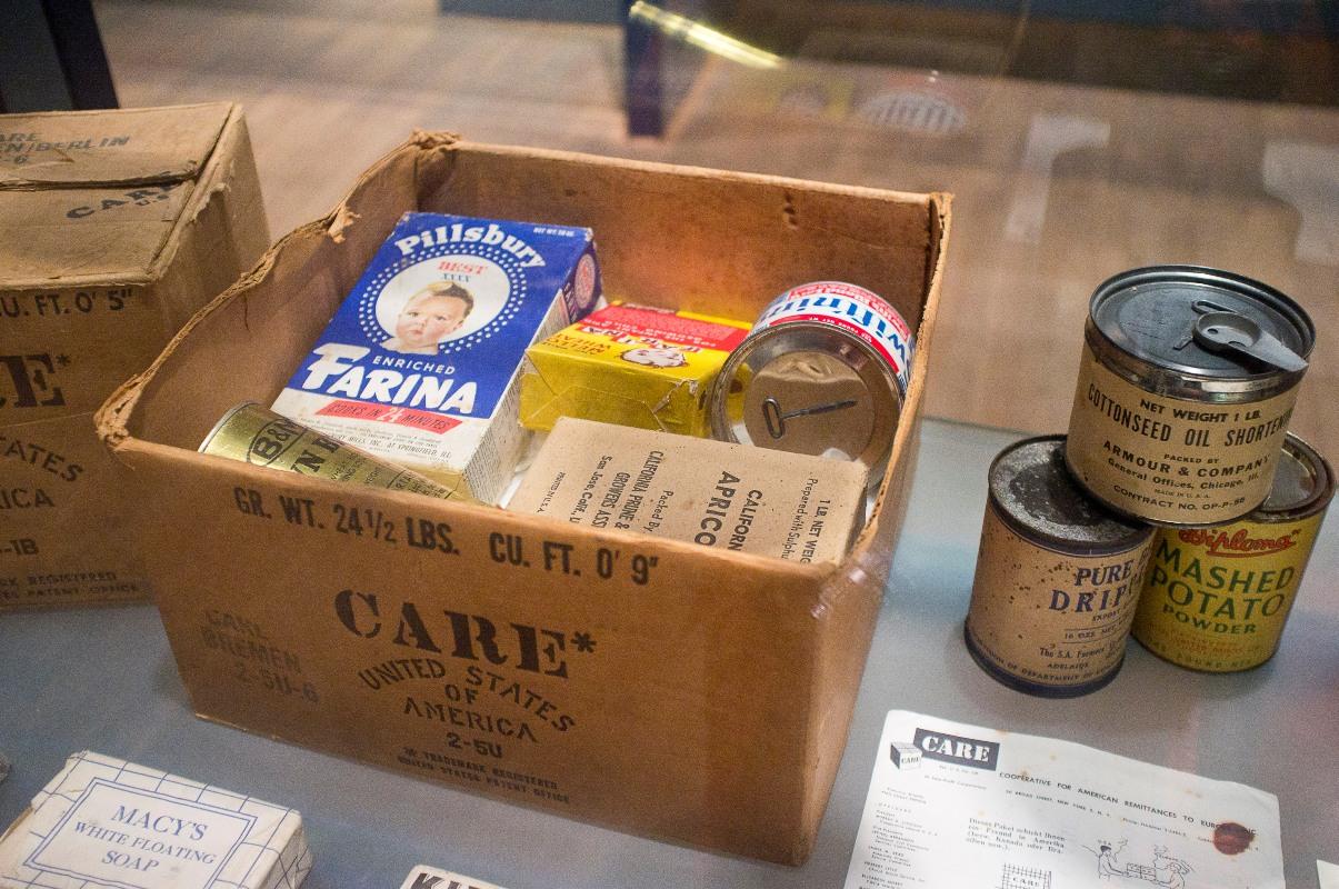 Carepaket im AlliiertenMuseum
