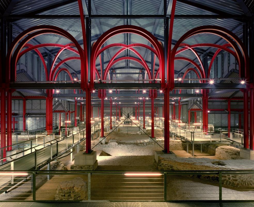 Der LVR-Archäologische Park Xanten, Schutzbau über den Thermen