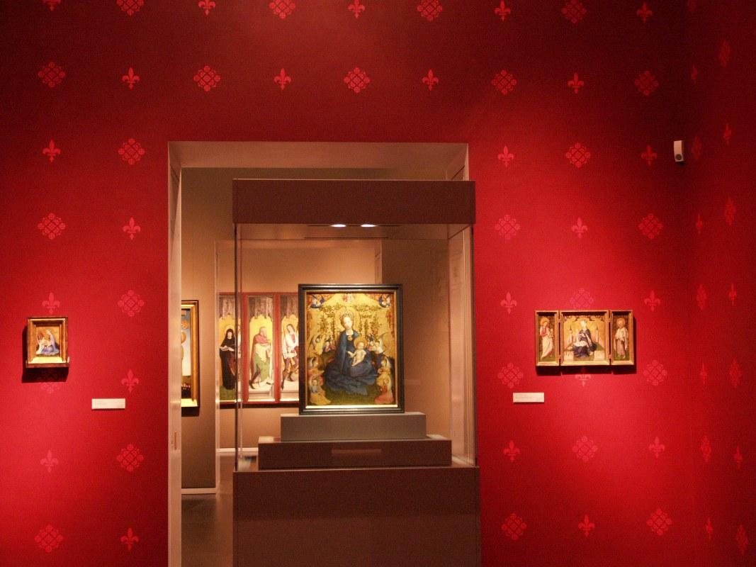 Wallraf-Richartz-Museum Köln, Mittelalterabteilung mit der Muttergottes von Lochner