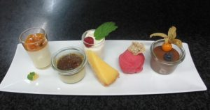 Dessert aus dem Schlossrestaurant