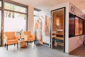 Backofen-Sauna in der food relaxing zone