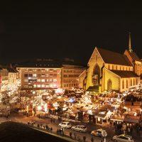 Basler Weihnachtsmarkt auf dem Barfüsser Platz