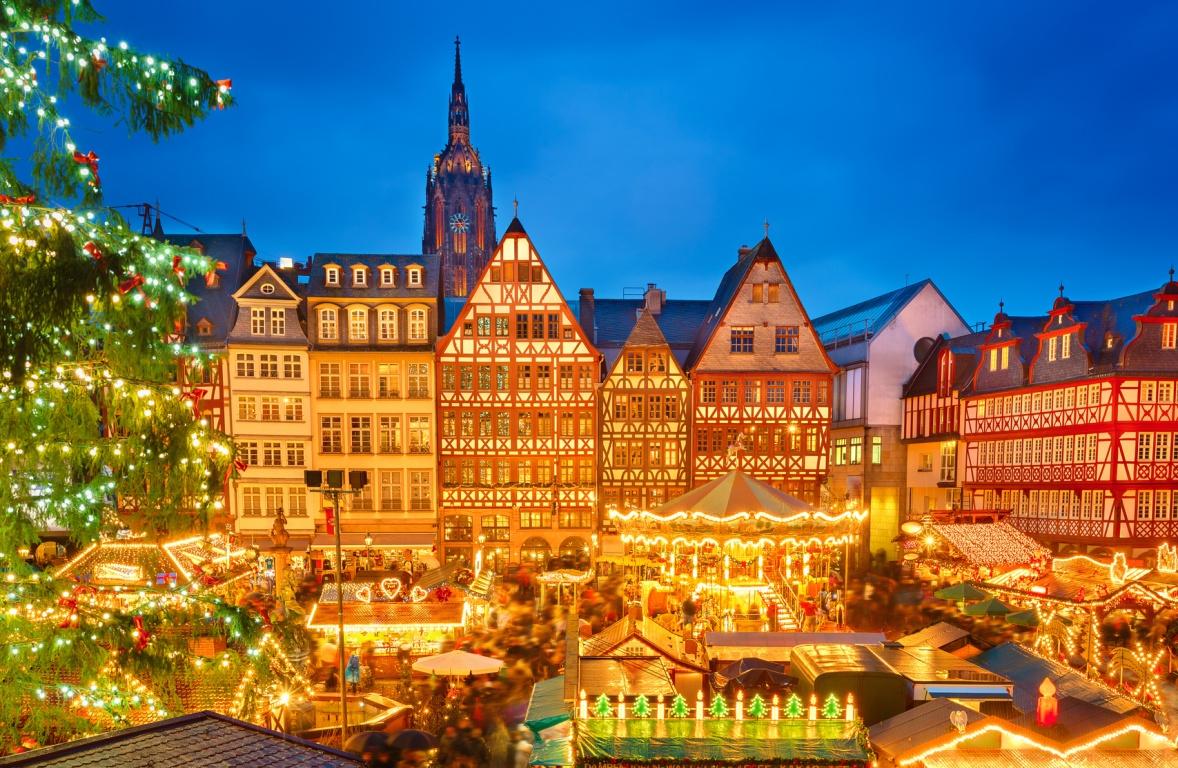 Frankfurter Weihnachtsmarkt Quetschem Nnchen Und