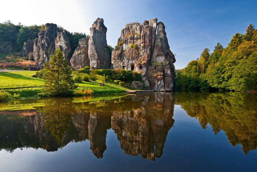 Externsteine im Teutoburger Wald, beeindruckende Orte