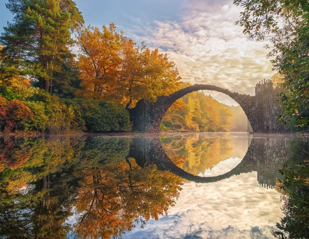Rakotzbrücke Kromlau, beeindruckende Orte