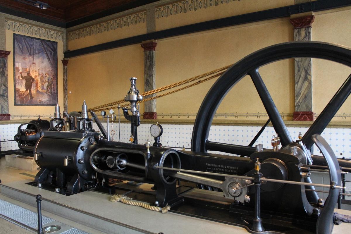 Liegende Einzylinder-Gegendruck-Dampfmaschine, Industriemuseum