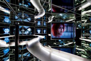 """Ständige Ausstellung, """"Spiegelsaal"""", Museum für Film und Fernsehen"""