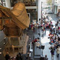 Foyer des RJM beim Thementag Indien 2012 Rautenstrauch-Joest-Museum – Kulturen der Welt