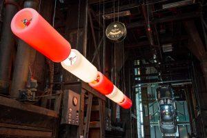 """""""D2V2"""" Licht-Installation im Red Dot Design Museum Essen"""