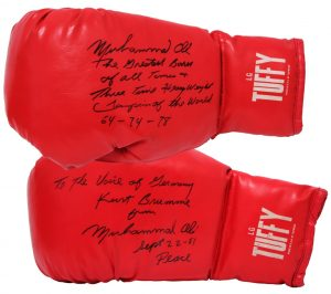 Boxhandschuhe von Muhammad Ali