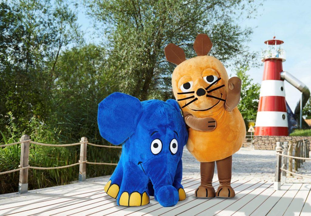 Maus und Elefant im Ravensburger Spieleland - Freizeitparks