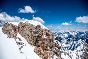 Gipfelkreuz auf der Zugspitze - Zugspitzbahn