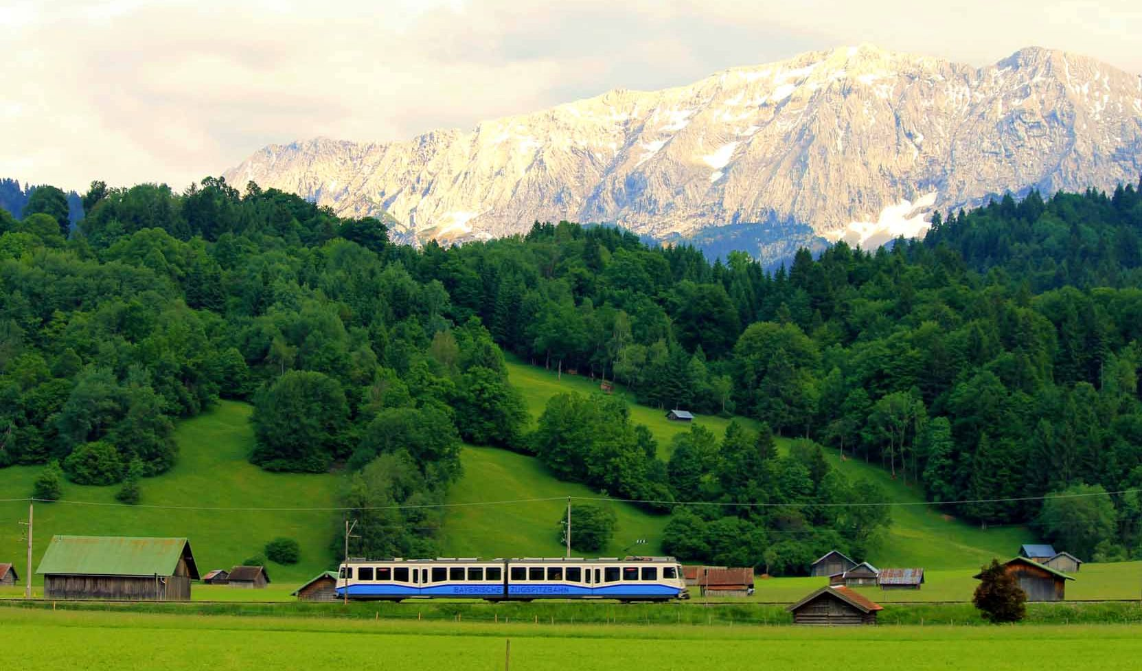 Bayerische Zugspitzbahn bei Garmisch-Partenkirchen