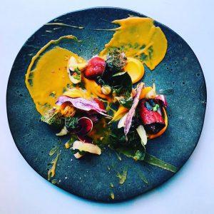 Gericht im Restaurant Mural