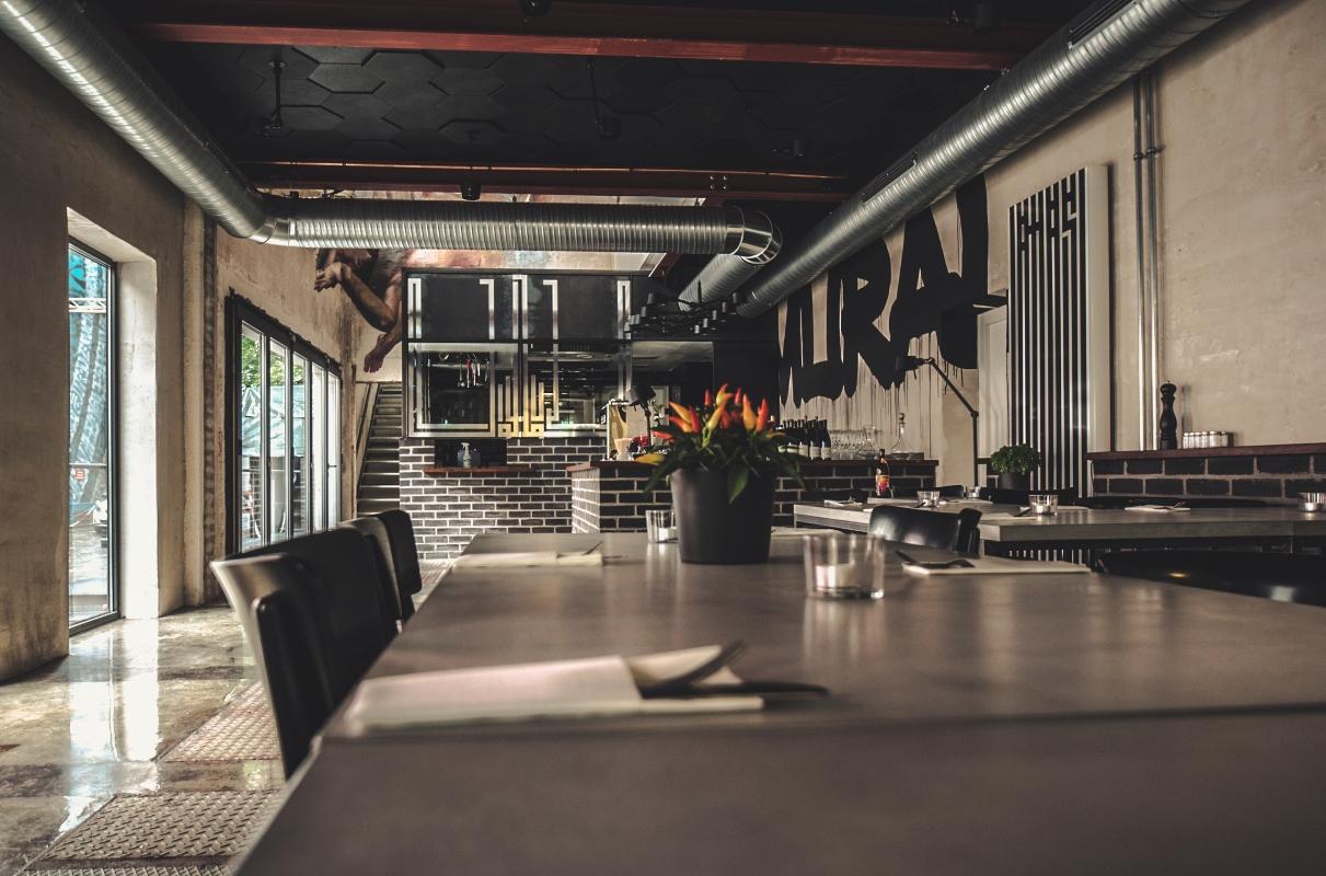 Restaurant Mural im MUCA