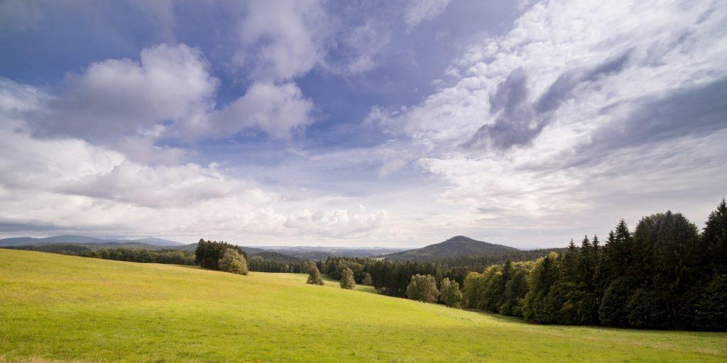 Blick auf die Lausche - Oberlausitzer Bergweg