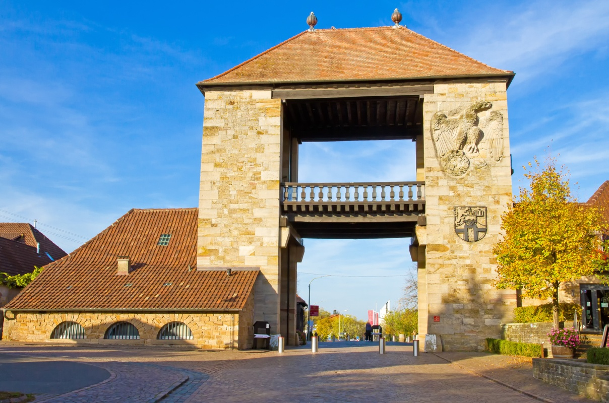 Deutsches Weintor in Schweigen-Rechtenbach - Pfälzer Waldpfad