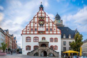 Plauen, Altes und Neues Rathaus - Vogtland Panorama Weg