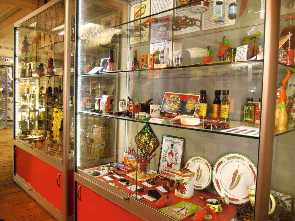 Spicy's Gewürzmuseum Hamburg, Chili Vitrine - Food-Museen