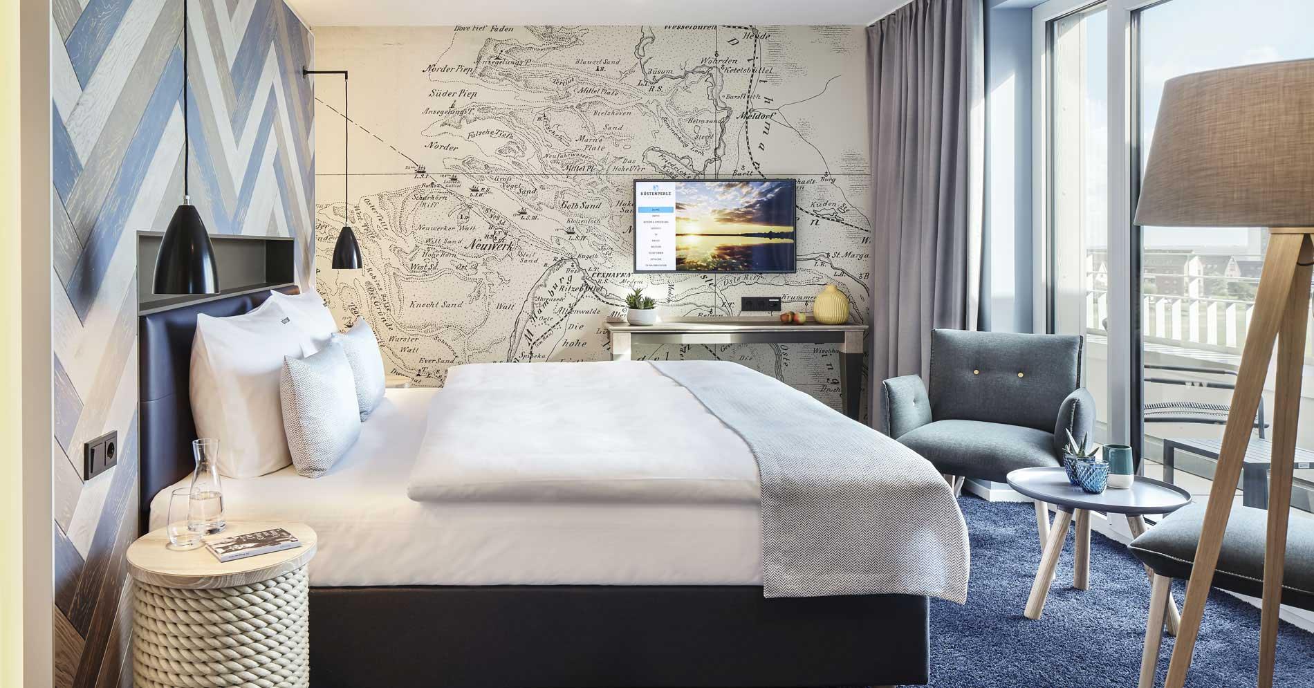 Zimmer im Küstenperle Strandhotel & Spa