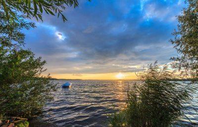 Sonnenuntergang an der Müritz - Mecklenburgische Seen-Radweg