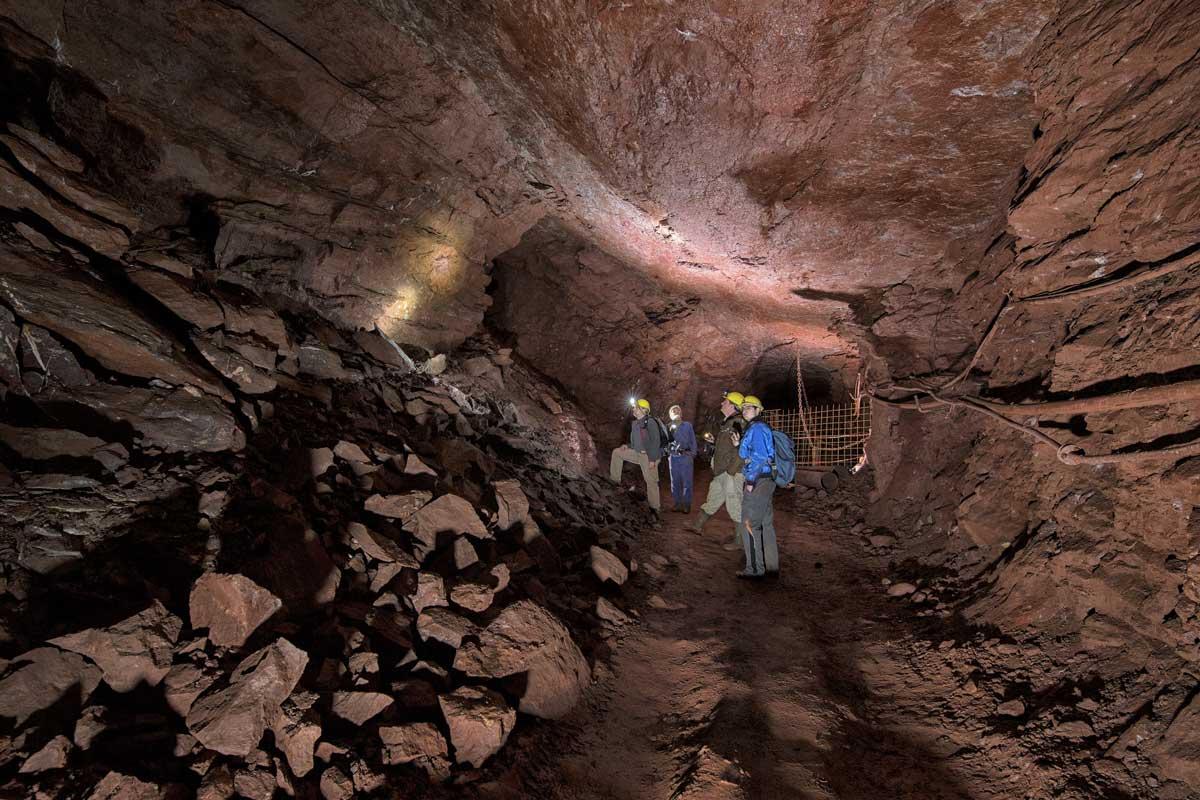 Eisenerzbergwerk Grube Fortuna, Solms-Oberbiel - Höhlen und Schaubergwerke