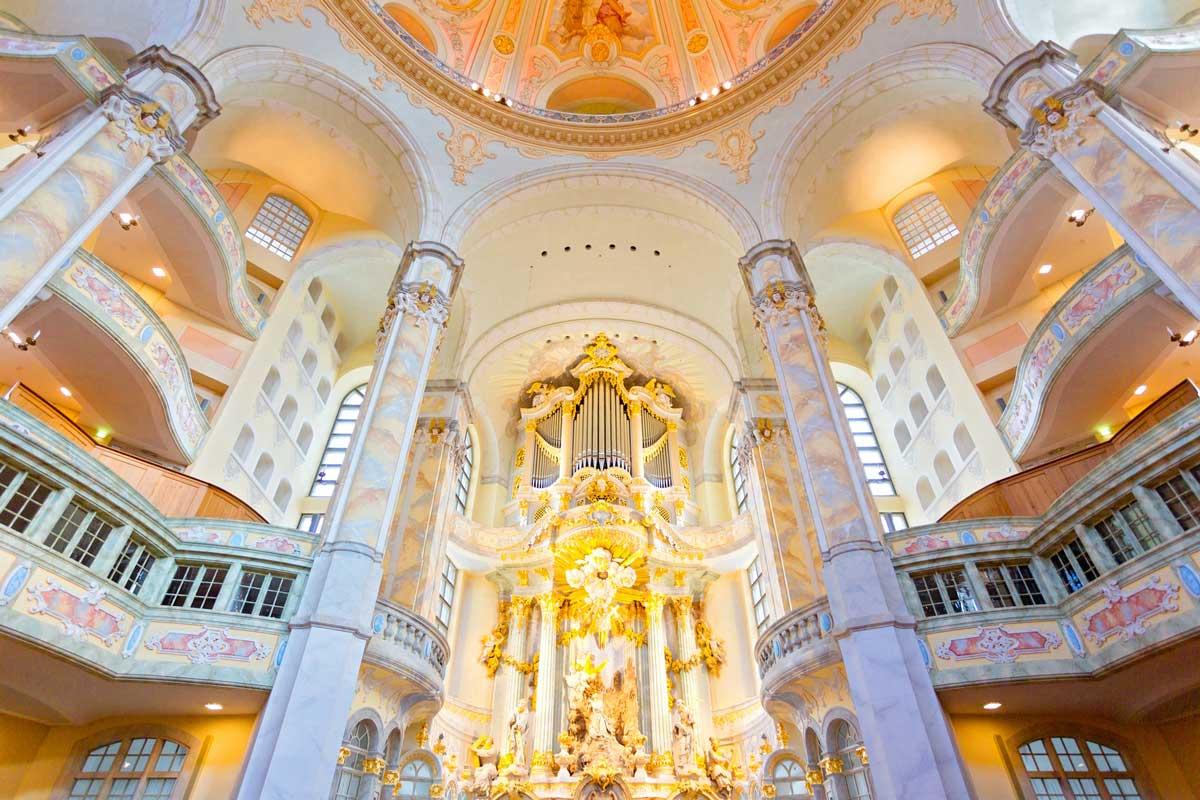 Frauenkirche Dresden, innen - Die schönsten Kirchen Deutschlands