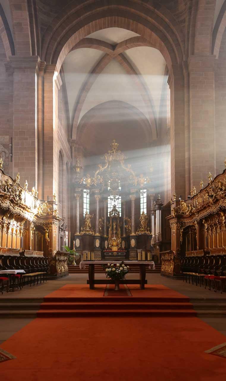 Wormser Dom, innen - Die schönsten Kirchen Deutschlands