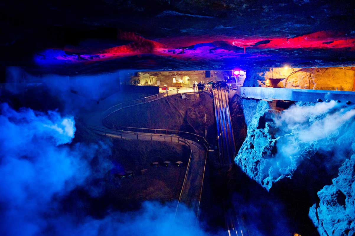 Salzkathedrale im Salzbergwerk Berchtesgaden - Höhlen und Schaubergwerke