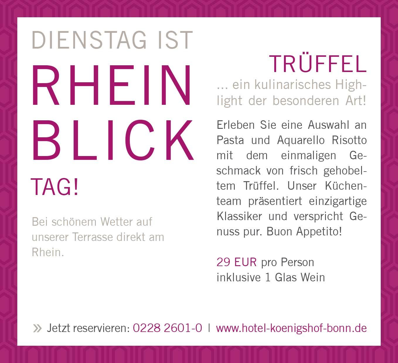 Trüffel Dienstag im Restaurant Oliveto im Hotel Königshof Bonn