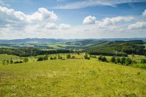 Fernsicht vom Sauerland-Höhenflug bei Bad Fredeburg