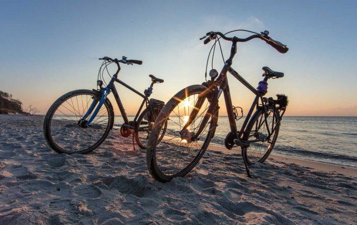 Radfahren am Meer