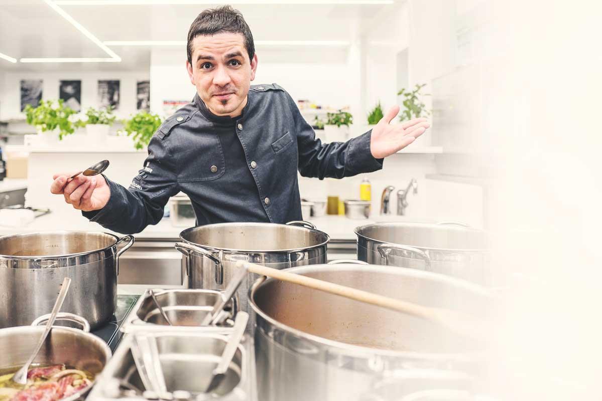 Matteo Ferrantino, Porträt, Restaurant bianc