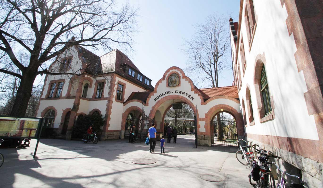 Zoo Leipzig, Historischer Eingangsbereich - Zoos Deutschland