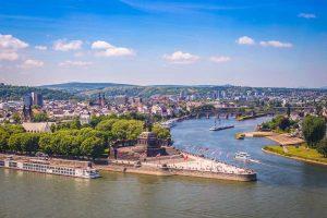 Deutsches Eck in Koblenz - Moselsteig