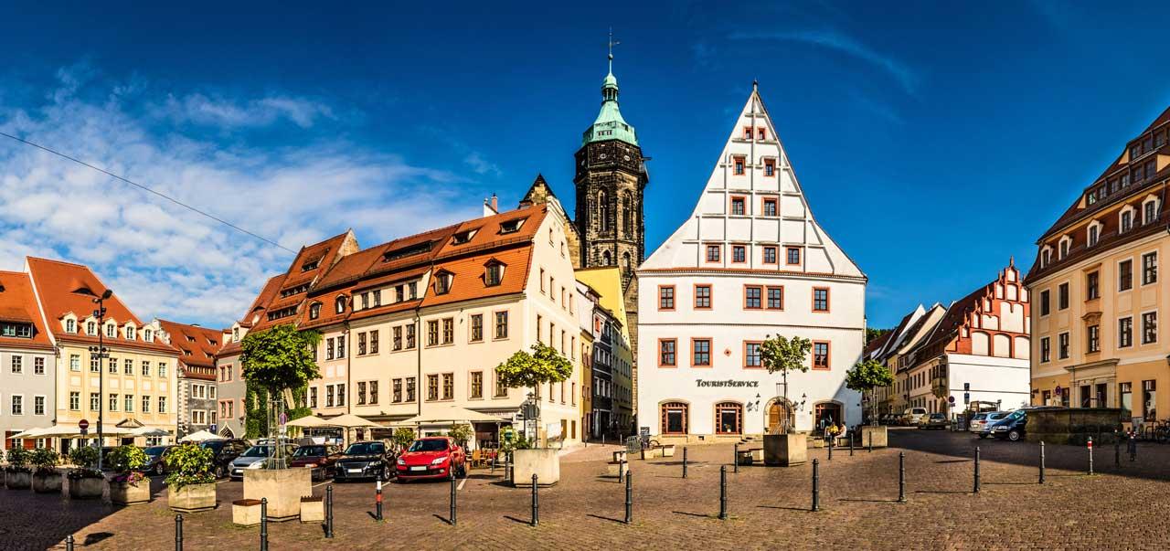 Pirna, Altstadt - Der Sächsische Weinwanderweg