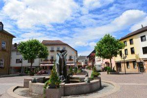 Marktplatz Bad Sobernheim - Weinwanderweg Rhein-Nahe