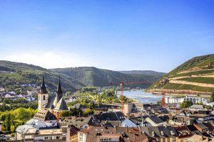 Blick auf Bingen - Weinwanderweg Rhein-Nahe