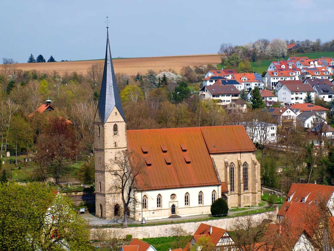 Alexanderkirche Marbach am Neckar - Der Württembergische Weinwanderweg