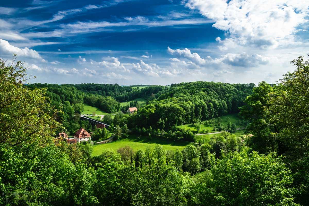 Taubertal nahe Rothenburg ob der Tauber - Der Württembergische Weinwanderweg
