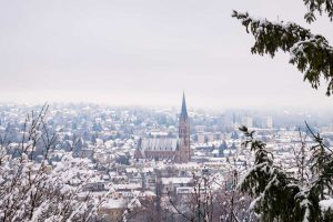 Blick auf Graz im Winter