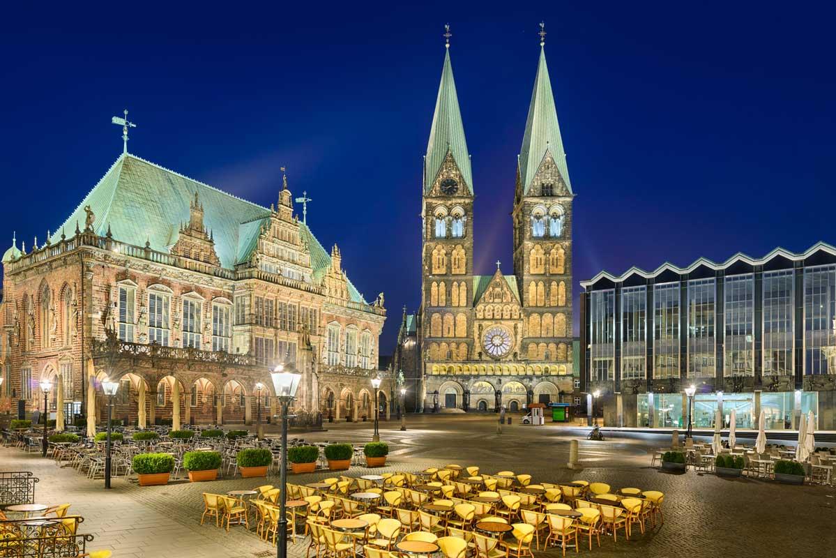 Rathaus und Dom in Bremen - Mönchsweg