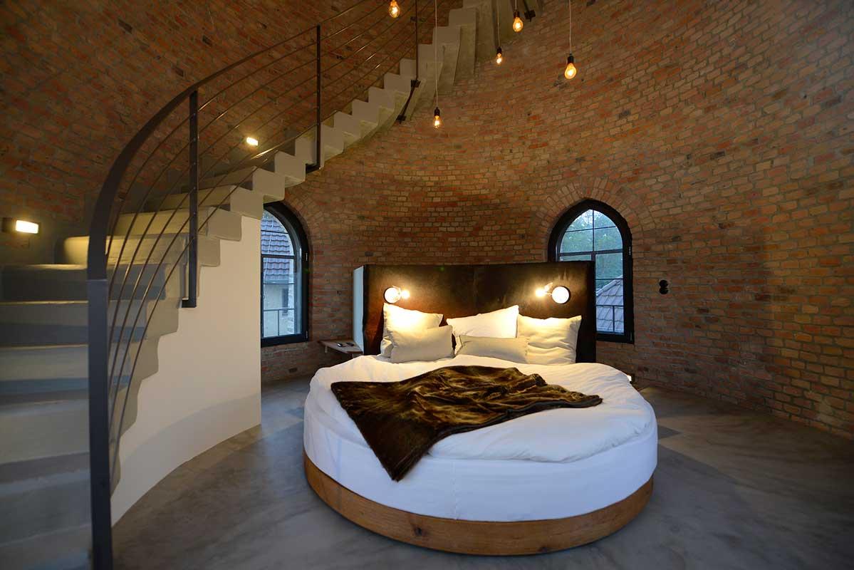 Schlafbereich im Wasserturm Bad Saarow