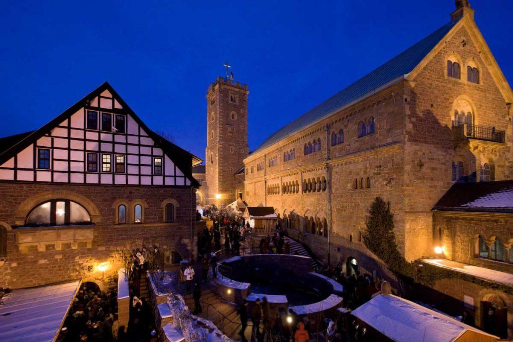 Historischer Weihnachtsmarkt auf der Wartburg - schöne Weihnachtsmärkte