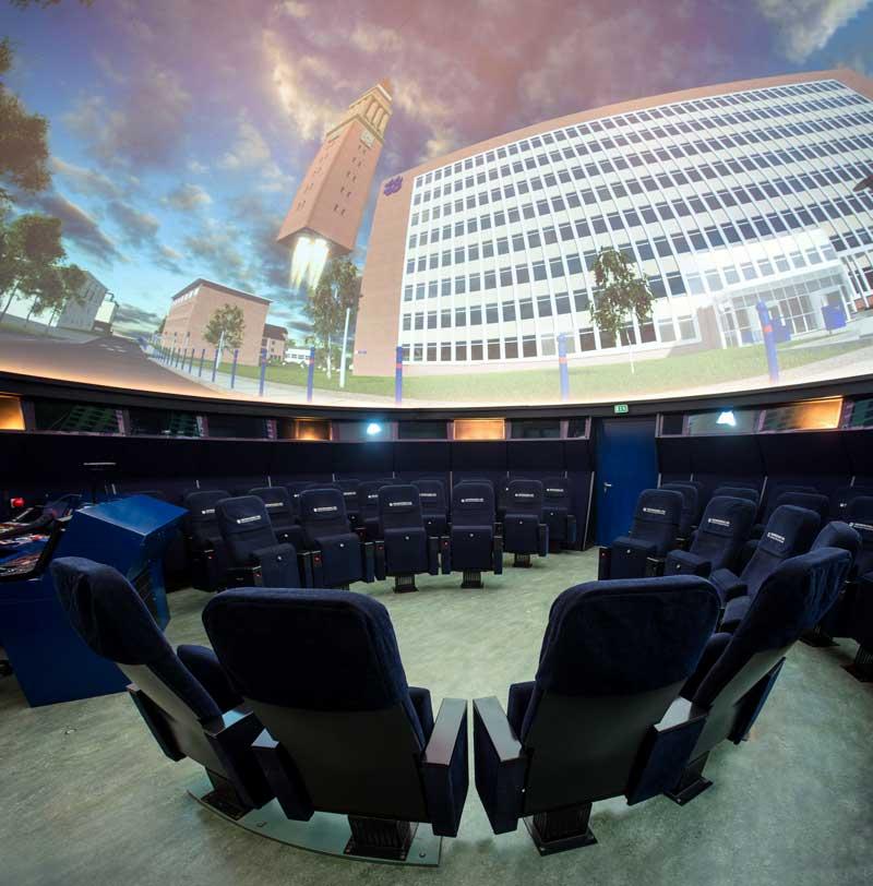 Mediendom Kiel, Panoramaaufnahme in der Kuppel