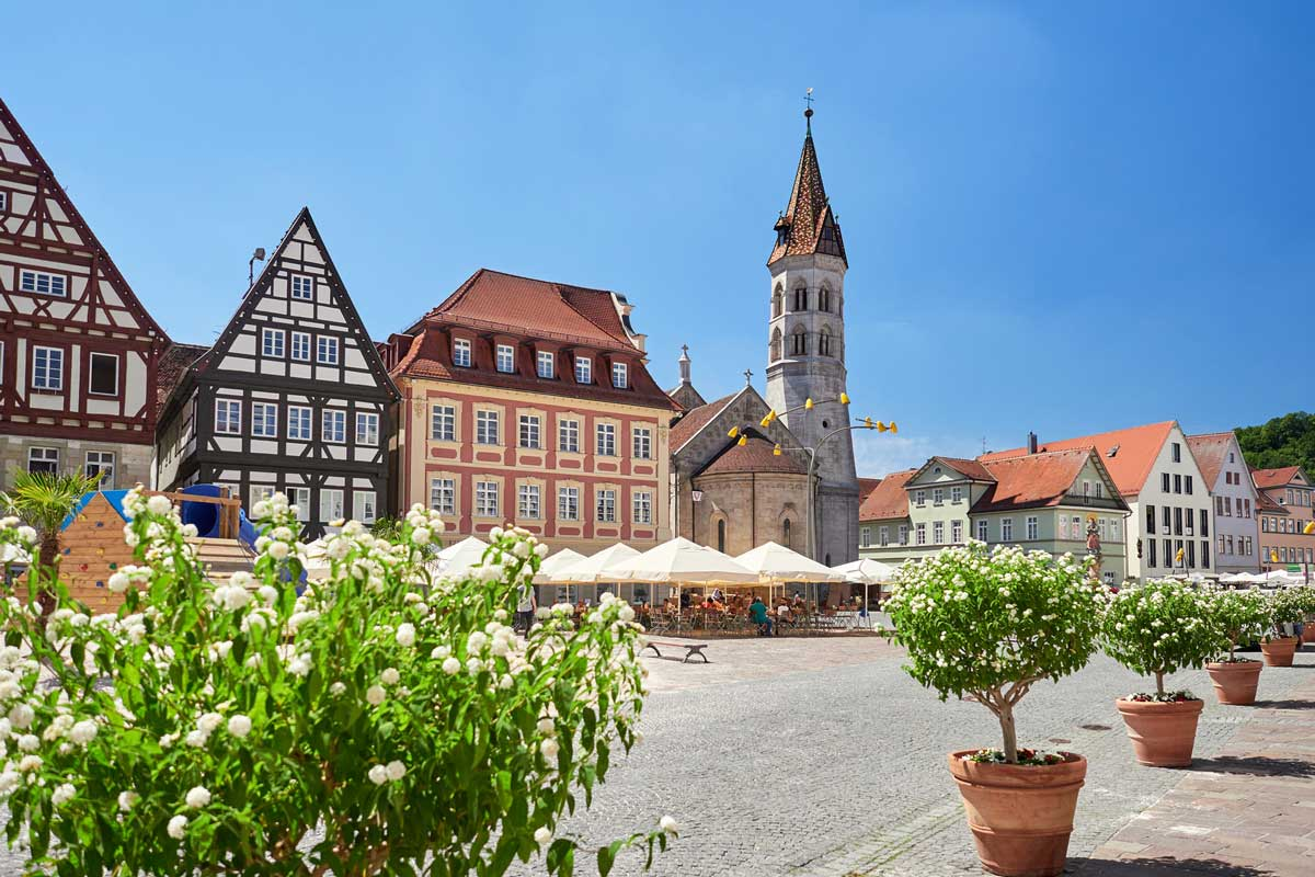 Marktplatz Schwäbisch Gmünd - Remstal-Route