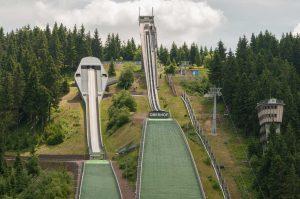 Sprungschanzen in Oberhof - Rennsteig