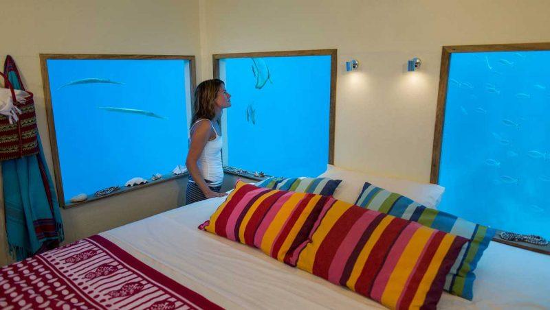 Zimmer bei Tag - Unterwasserhotels